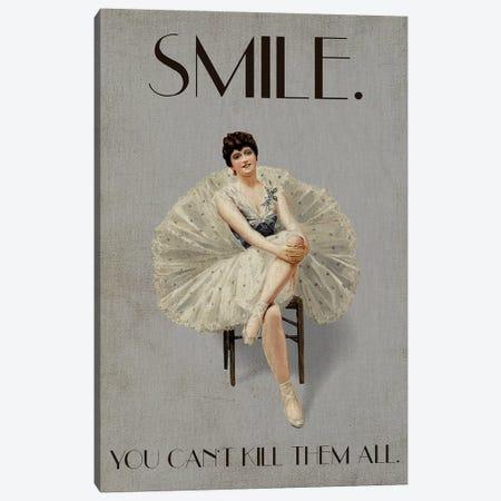 Smile Canvas Print #KUB63} by Kubistika Art Print