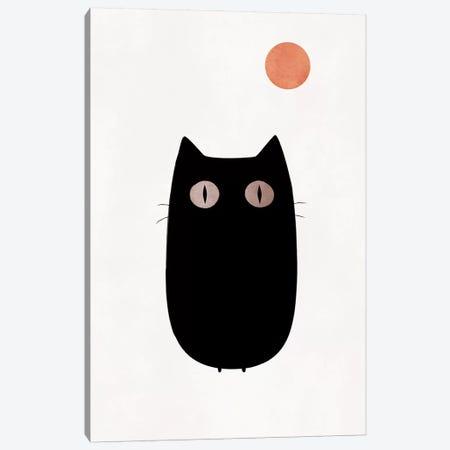 The Cat Canvas Print #KUB76} by Kubistika Art Print