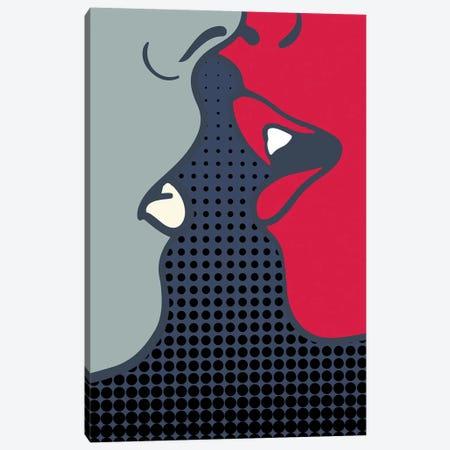 The Kiss Canvas Print #KUB78} by Kubistika Canvas Artwork