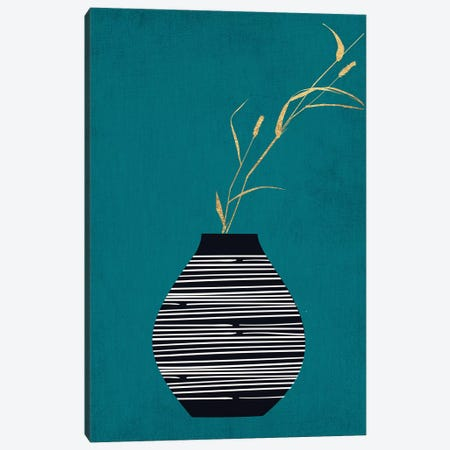 Turquois Bouquet Canvas Print #KUB89} by Kubistika Art Print