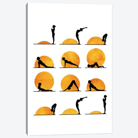 Yoga Sun Canvas Print #KUB98} by Kubistika Canvas Wall Art