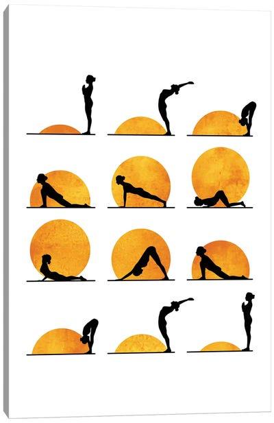 Yoga Sun Canvas Art Print