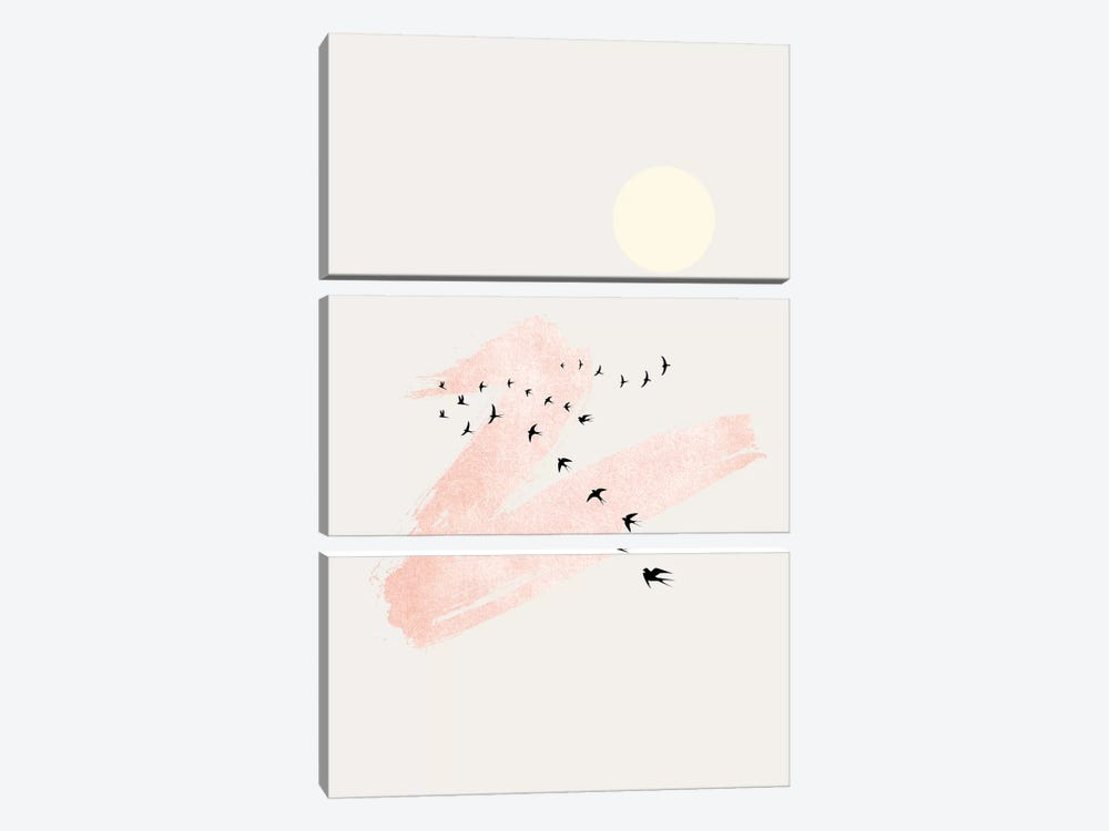 Sun And Heaven by Kubistika 3-piece Canvas Art Print
