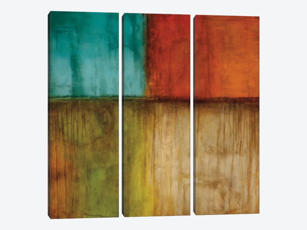 Spectrum I by Kurt Morrison 3-piece Canvas Art