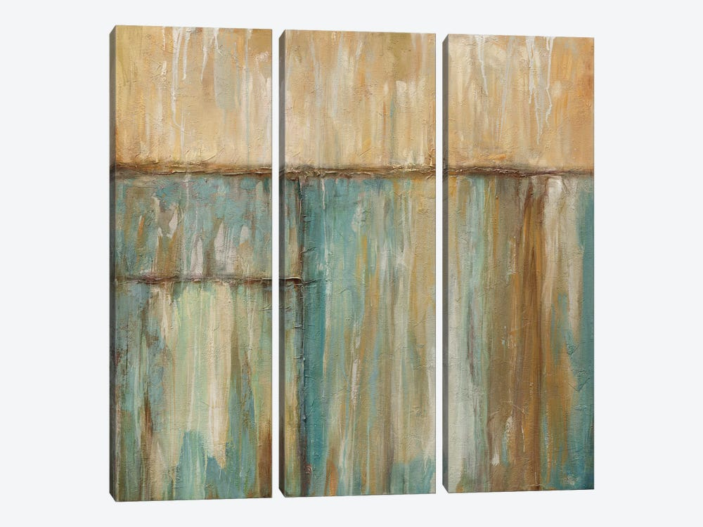 Blue Hue by Kurt Morrison 3-piece Canvas Wall Art
