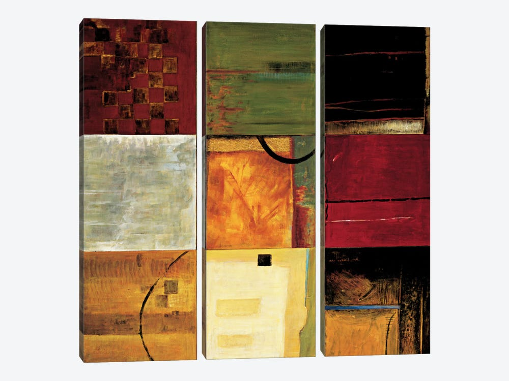 Compartments II 3-piece Canvas Artwork