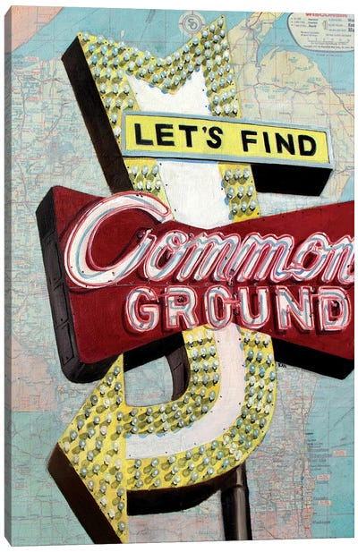 Common Ground Canvas Art Print