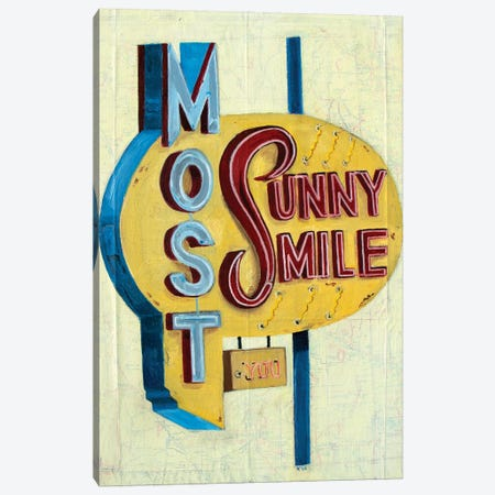 Most Sunny Smile Canvas Print #KVA16} by Krista V. Allenstein Canvas Art