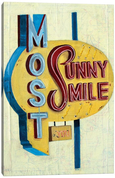 Most Sunny Smile Canvas Art Print
