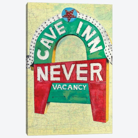 Never Cave Inn Canvas Print #KVA17} by Krista V. Allenstein Canvas Wall Art