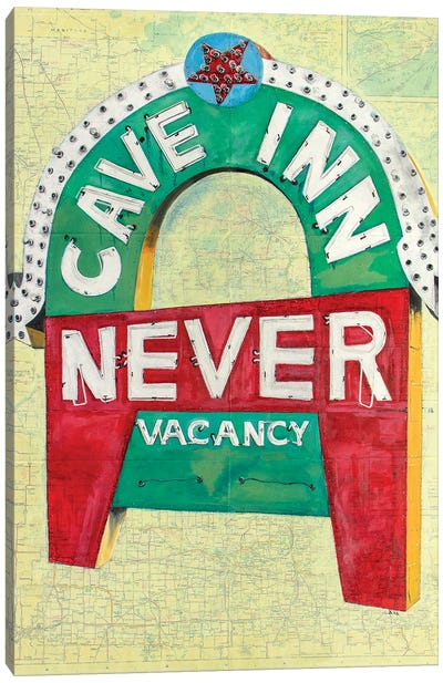 Never Cave Inn Canvas Art Print