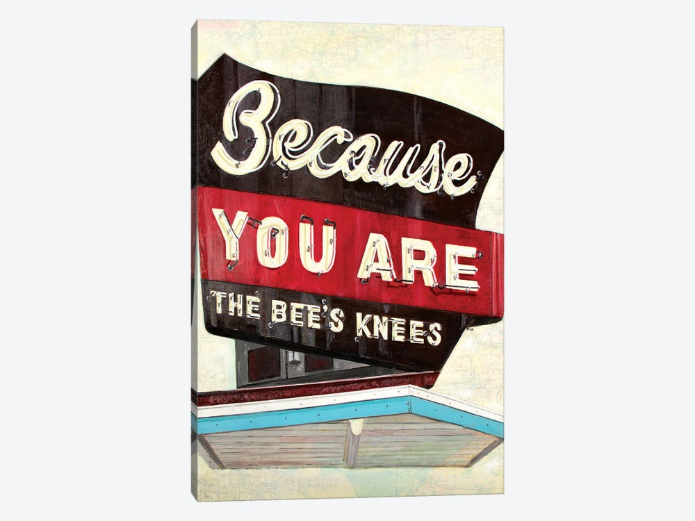 Because You Are by Krista V. Allenstein 1-piece Canvas Art Print