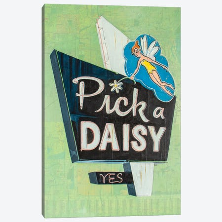 Pick A Daisy Canvas Print #KVA21} by Krista V. Allenstein Canvas Artwork