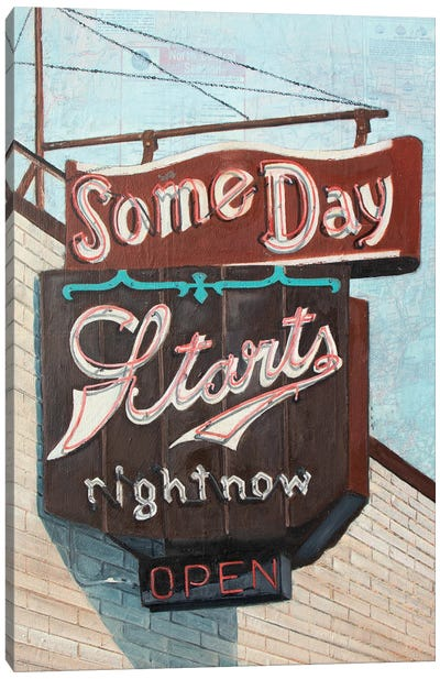 Some Day Canvas Art Print