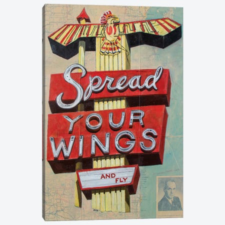 Spread Your Wings Canvas Print #KVA24} by Krista V. Allenstein Canvas Print