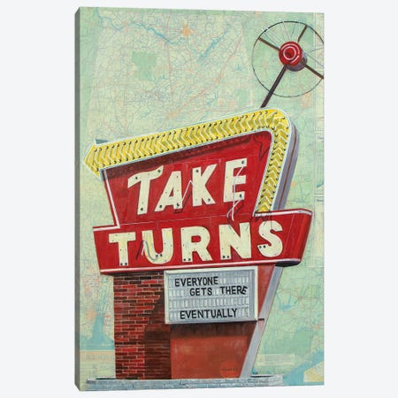 Take Turns Canvas Print #KVA26} by Krista V. Allenstein Canvas Print