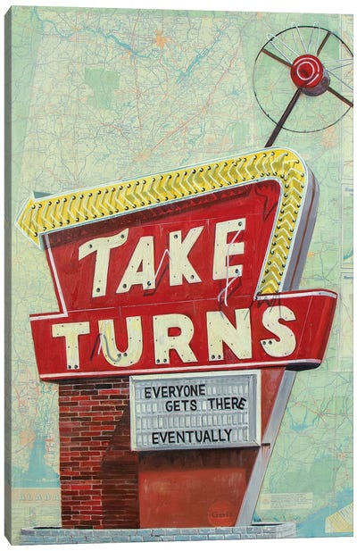Take Turns Canvas Art Print