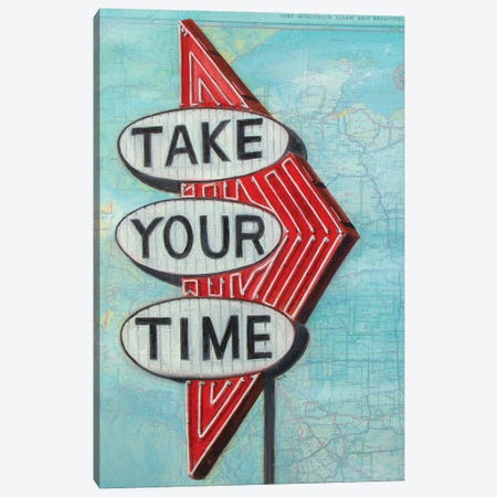 Take Your Time Canvas Print #KVA27} by Krista V. Allenstein Canvas Art Print