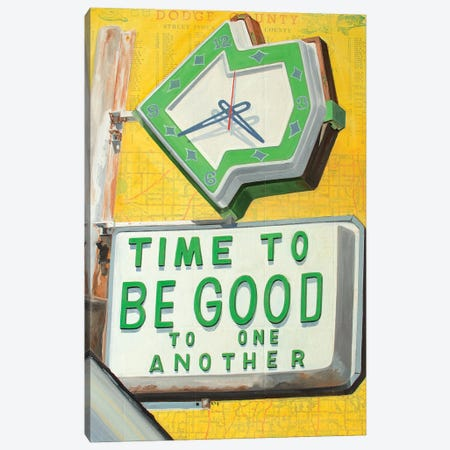 Time To Be Good Canvas Print #KVA28} by Krista V. Allenstein Canvas Art