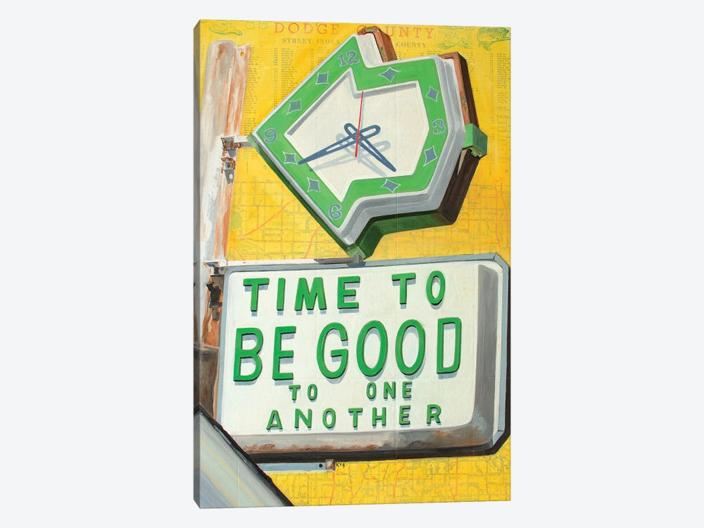Time To Be Good by Krista V. Allenstein 1-piece Canvas Print