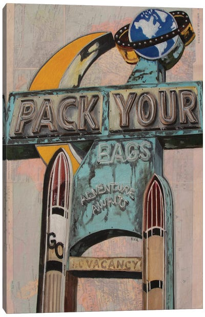 Pack Your Bags Canvas Art Print