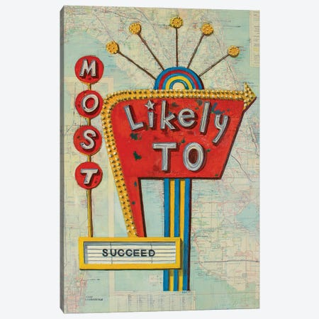 Most Likely To Succeed Canvas Print #KVA3} by Krista V. Allenstein Canvas Art Print