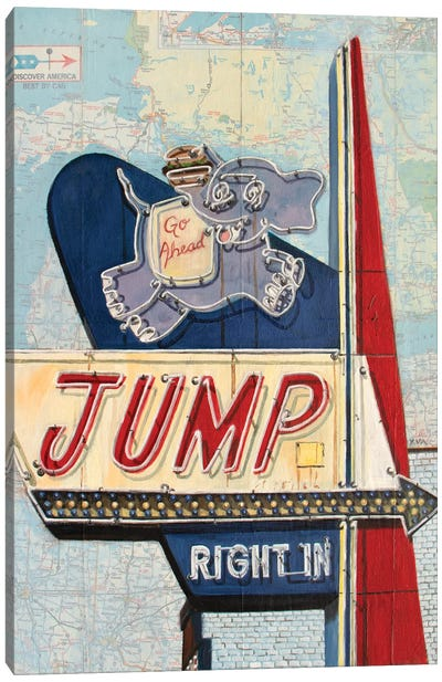 Jump Right In Canvas Art Print