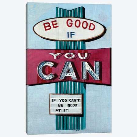 Be Good Canvas Print #KVA8} by Krista V. Allenstein Art Print