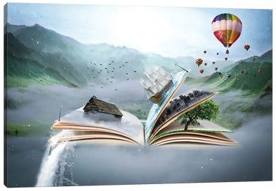 Book World Canvas Art Print