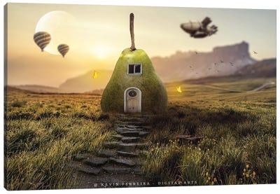 Pear House Canvas Art Print