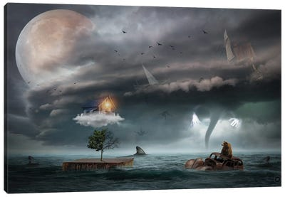 End Of The Sea Canvas Art Print