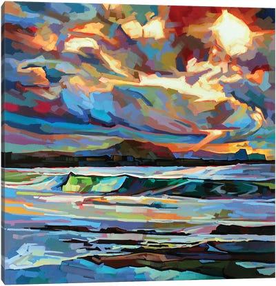 Main Beach, Bundoran, Storm Brendan Canvas Art Print