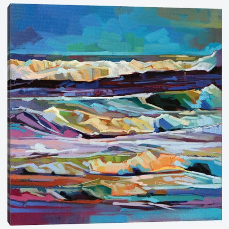 Main Beach, Bundoran, Storm Ciara Ii Canvas Print #KVL11} by Kevin Lowery Canvas Art