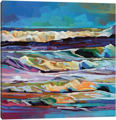 Main Beach, Bundoran, Storm Ciara Ii Canvas Art Print