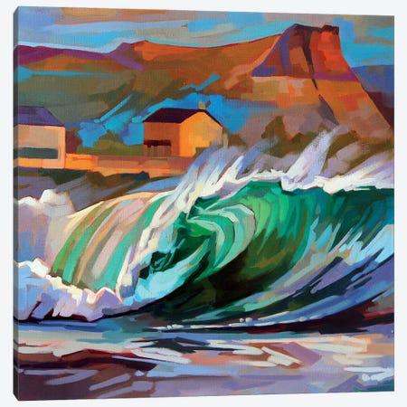Main Beach, Bundoran Canvas Print #KVL14} by Kevin Lowery Canvas Art Print
