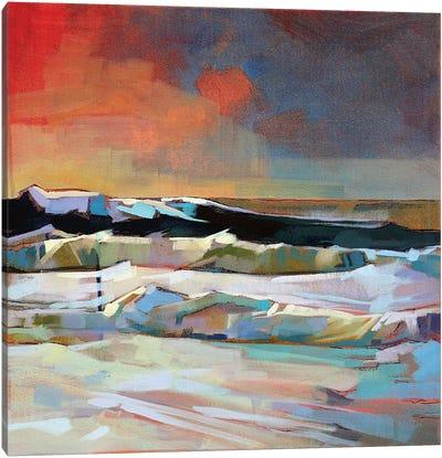 Near Mullaghmore, Storm Eleanor Canvas Art Print