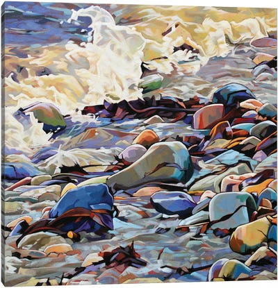 Pebbles At Cregg II Canvas Art Print