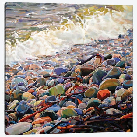 Pebbles At Cregg Canvas Print #KVL19} by Kevin Lowery Canvas Art