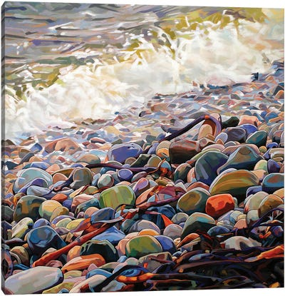 Pebbles At Cregg Canvas Art Print