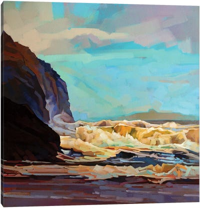 Break In The Clouds At Tullan Strand Canvas Art Print