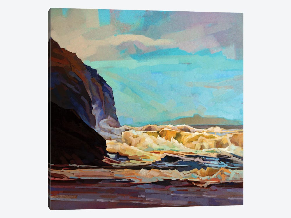 Break In The Clouds At Tullan Strand by Kevin Lowery 1-piece Canvas Art