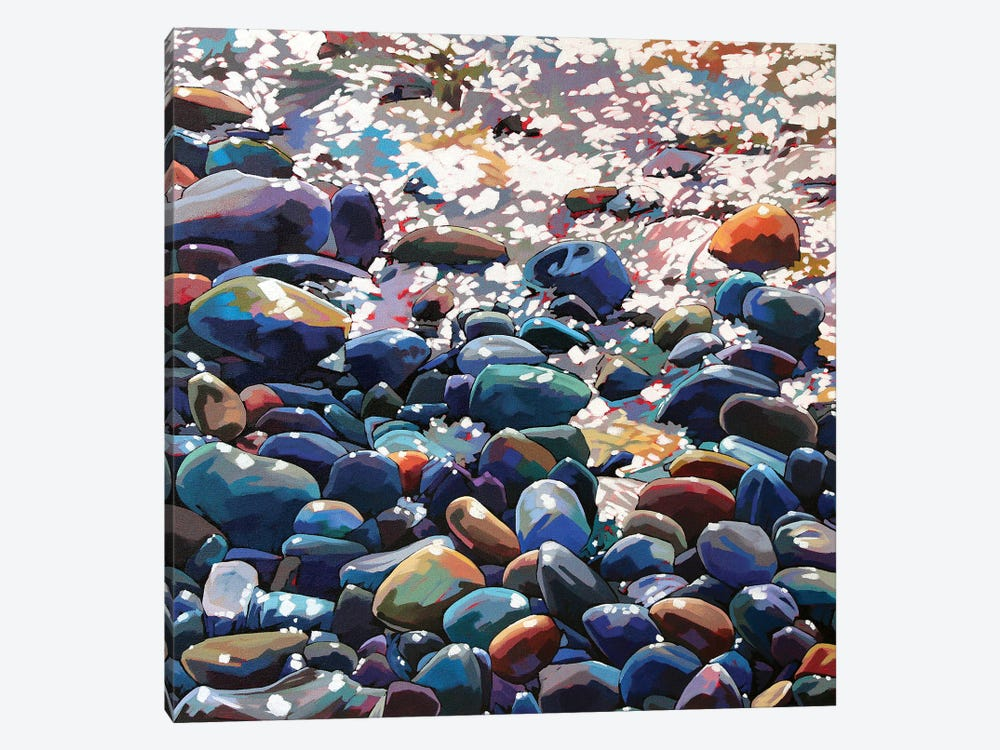 Pebbles IX by Kevin Lowery 1-piece Canvas Print