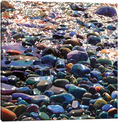 Pebbles X Canvas Art Print
