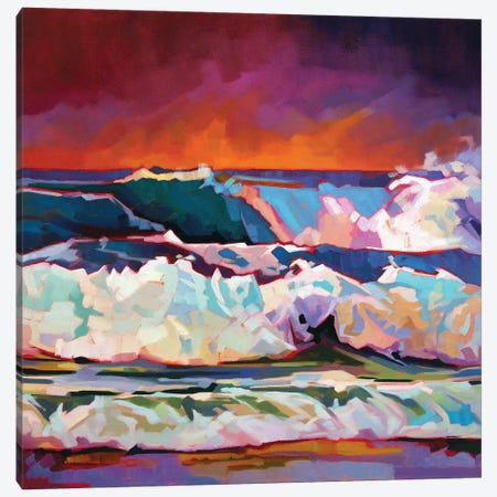 Red Sky At Fanore Canvas Print #KVL25} by Kevin Lowery Canvas Wall Art