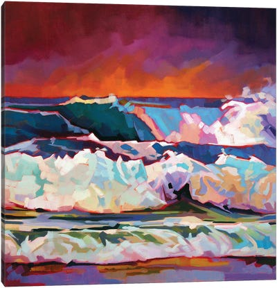 Red Sky At Fanore Canvas Art Print