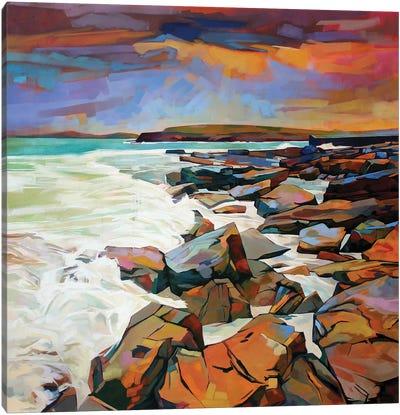 Rocks At Creevy Canvas Art Print