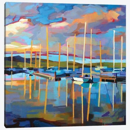 Sailboats At Dingle Canvas Print #KVL30} by Kevin Lowery Canvas Artwork