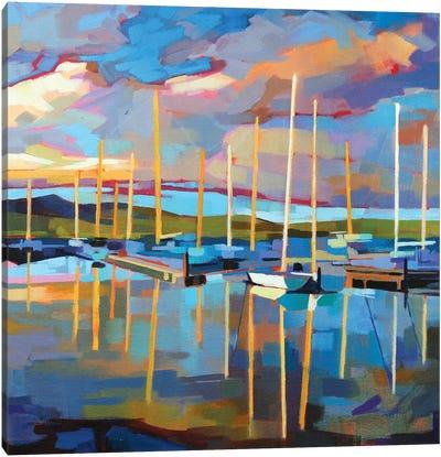 Sailboats At Dingle Canvas Art Print