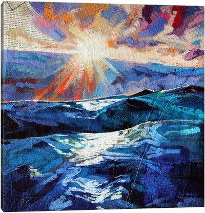 Stormy Seas At Tullan Canvas Art Print