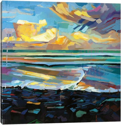 Streedagh Beach, Storm Fionn Canvas Art Print
